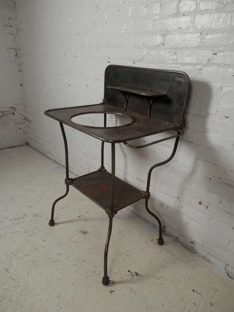 antique metal wash stand at 1stdibs. Black Bedroom Furniture Sets. Home Design Ideas