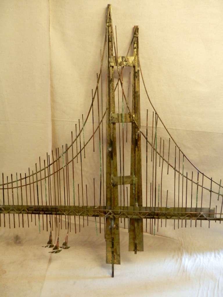 Golden Gate Bridge Wall Sculpture by C. Jere at 1stdibs