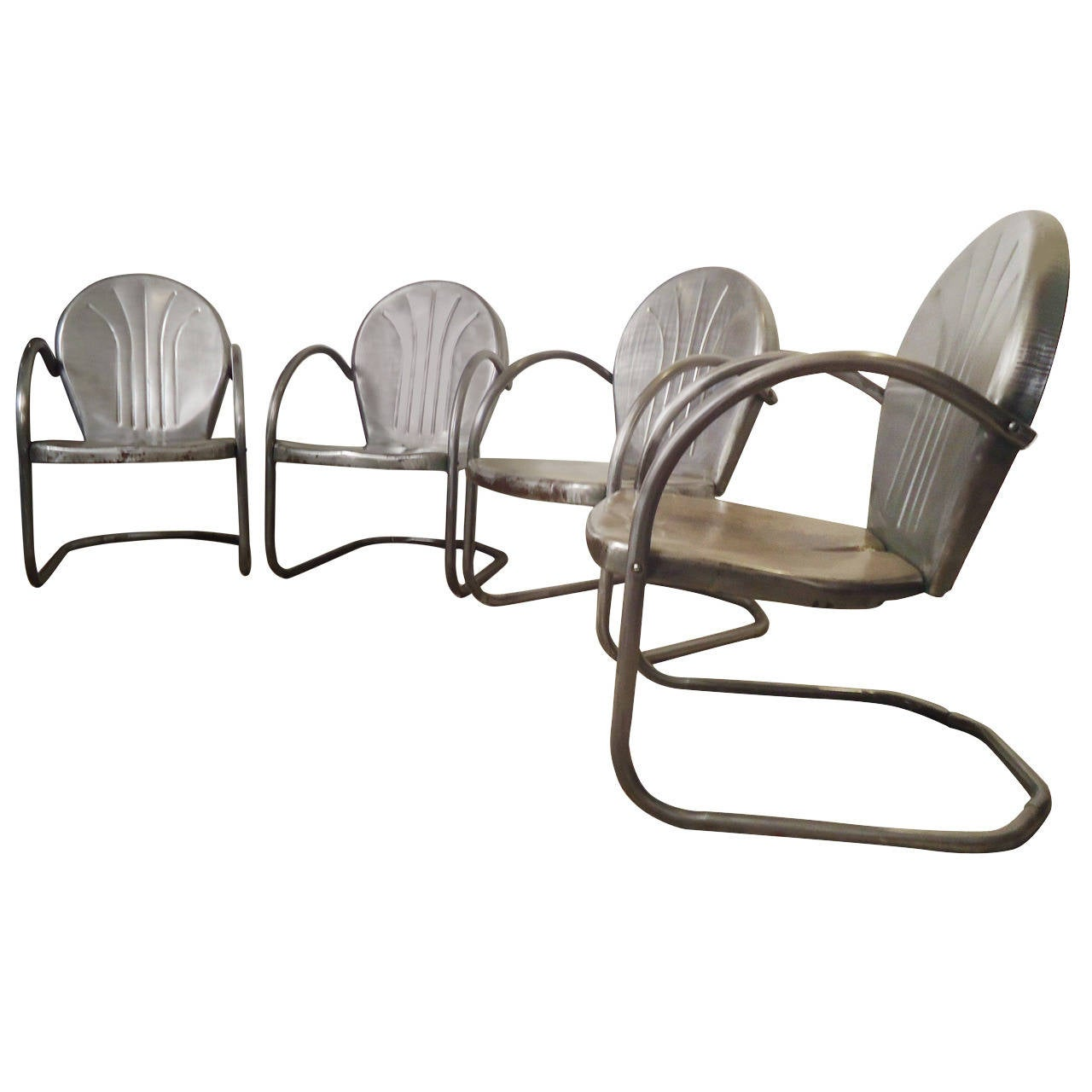 this handsome bare metal patio chairs is no longer available