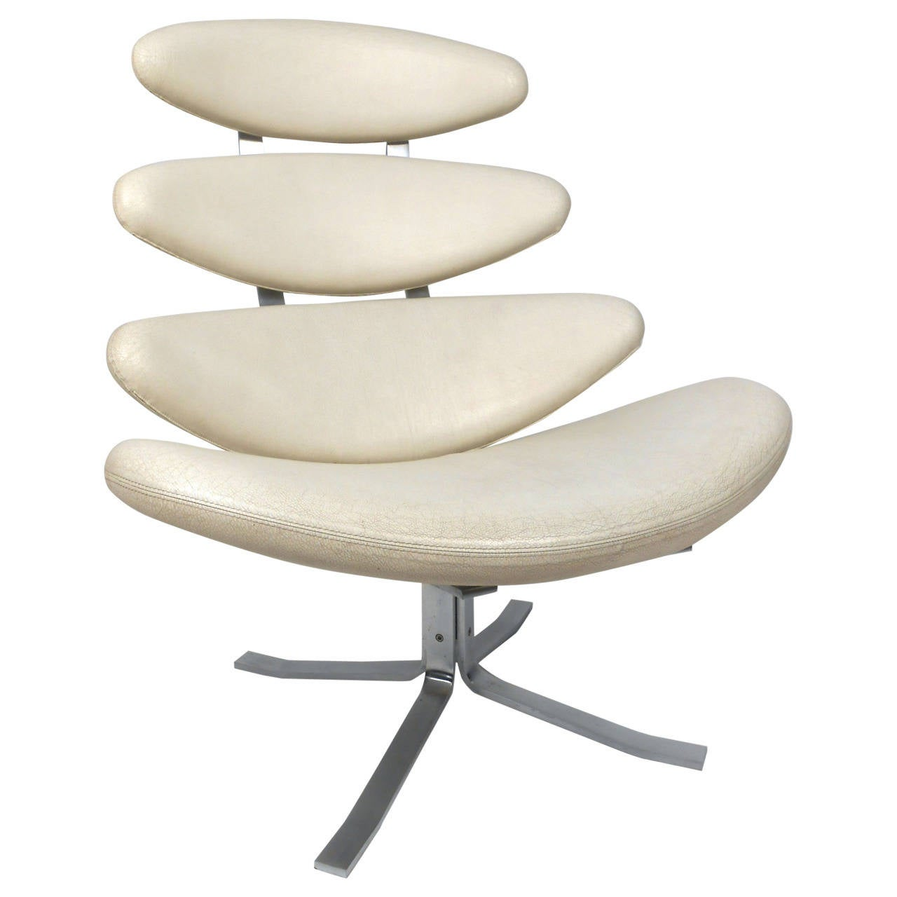 """Poul Volther """"Corona"""" Swivel Lounge Chair"""