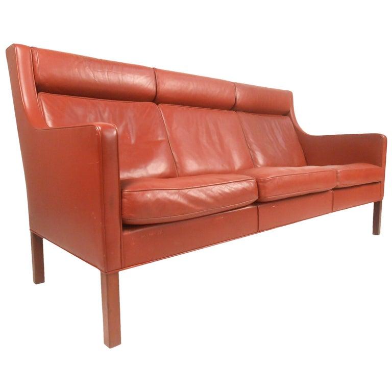 Børge Mogensen Leather Sofa For Sale