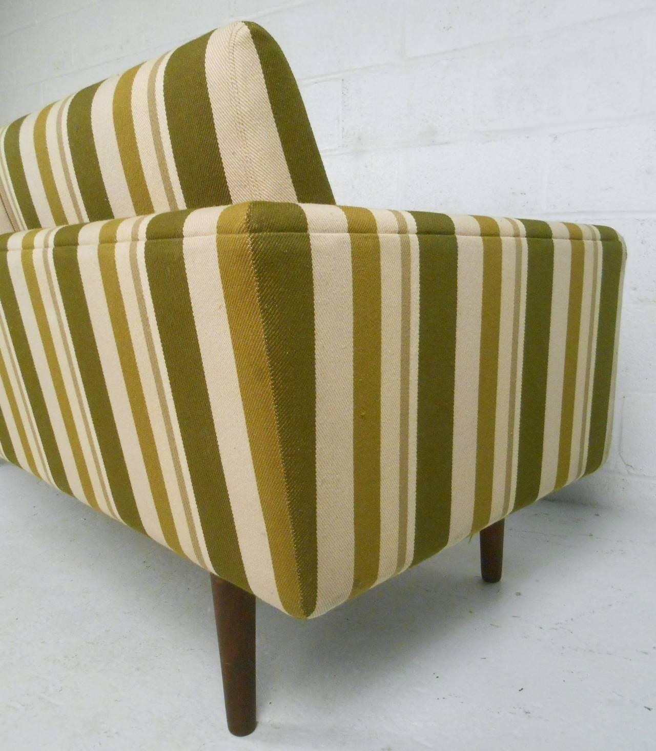 Fabric Large Danish Modern Sofa after Børge Mogensen For Sale