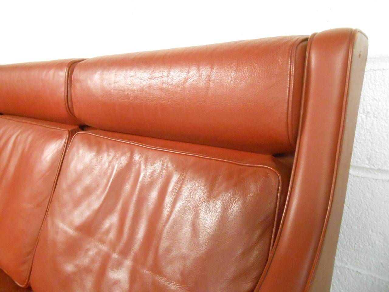 Mid-20th Century Børge Mogensen Leather Sofa For Sale