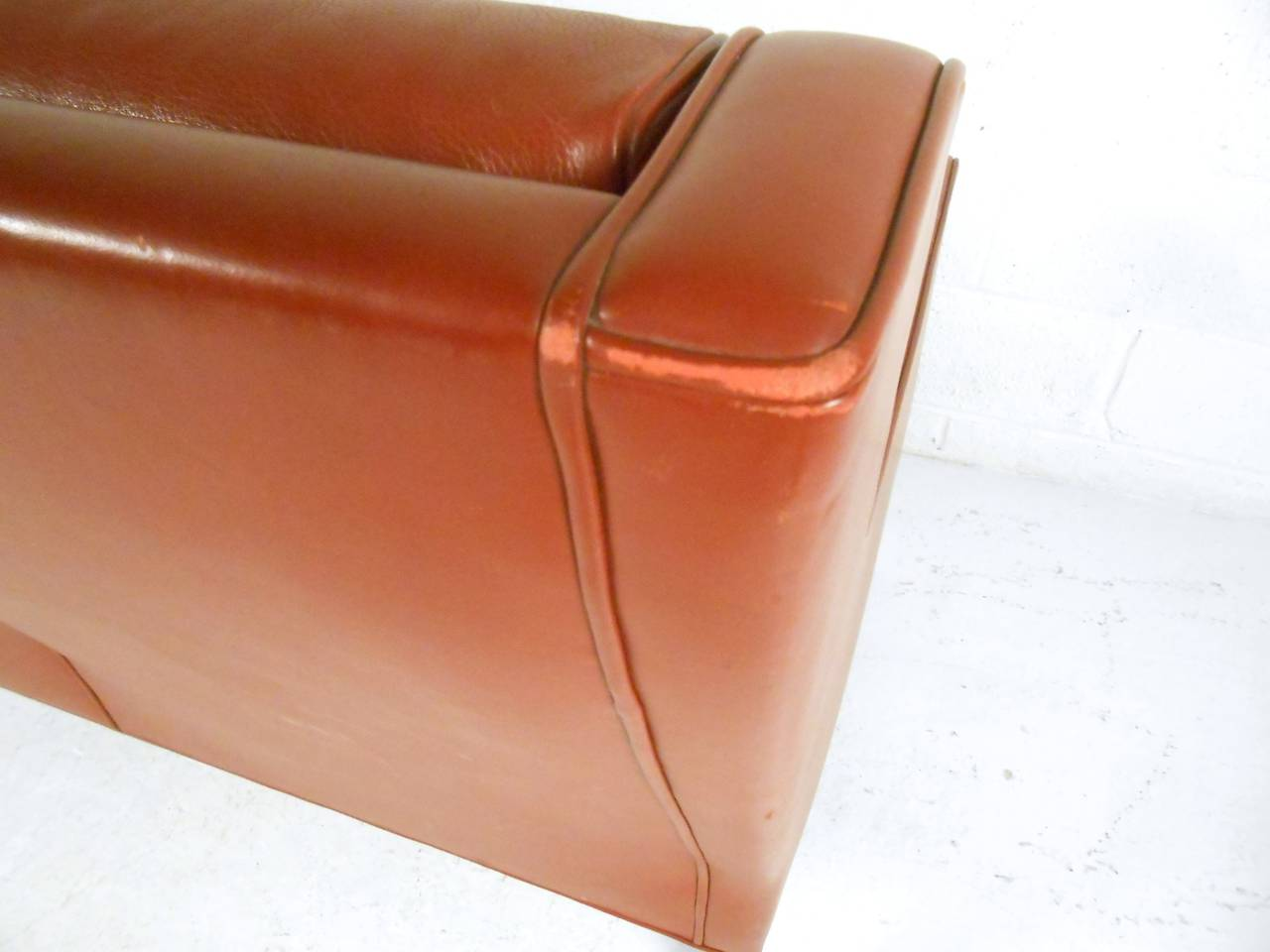 Vintage Modern Borge Mogensen Leather Loveseat Sofa 2