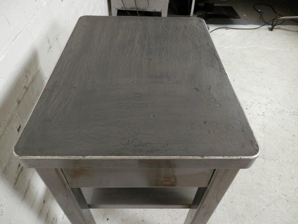 Industrial Wood And Metal Nightstand: Vintage Industrial Metal Nightstand At 1stdibs