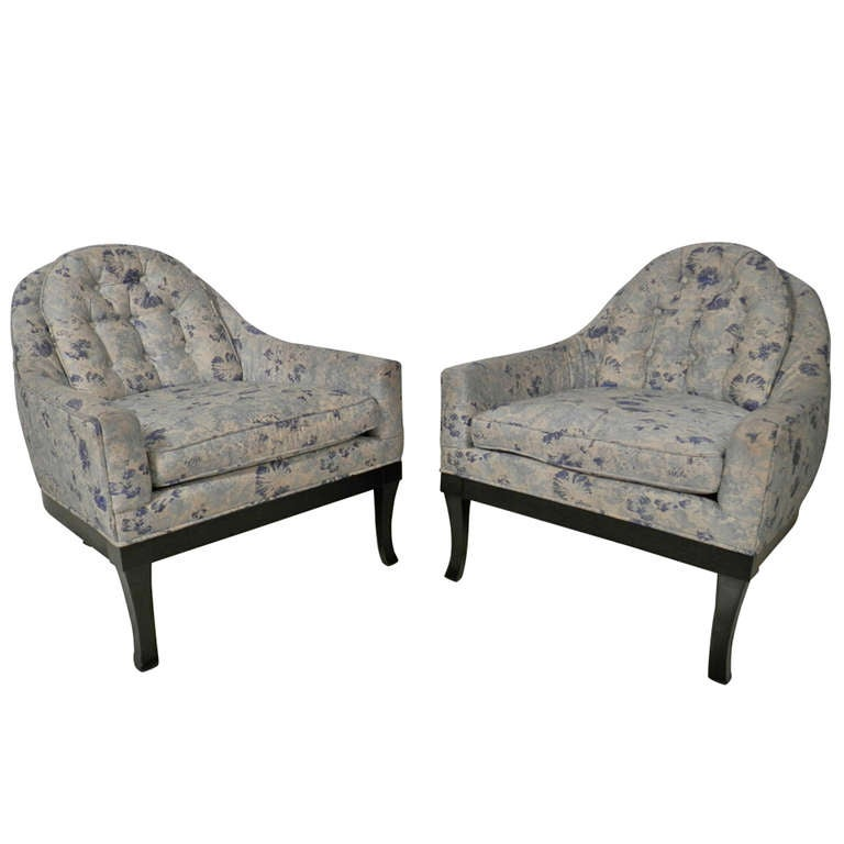 Barrel Back Arm Chairs By Grand Rapids Furniture Co At 1stdibs