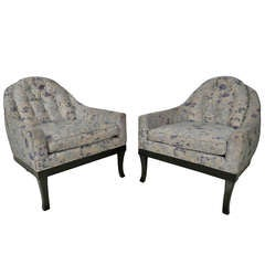 Barrel Back Armchairs by Grand Rapids Furniture Co.