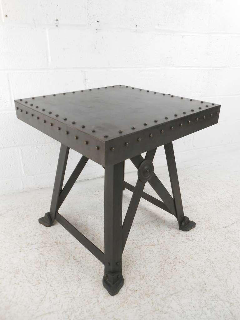 mid century modern industrial end table at 1stdibs. Black Bedroom Furniture Sets. Home Design Ideas