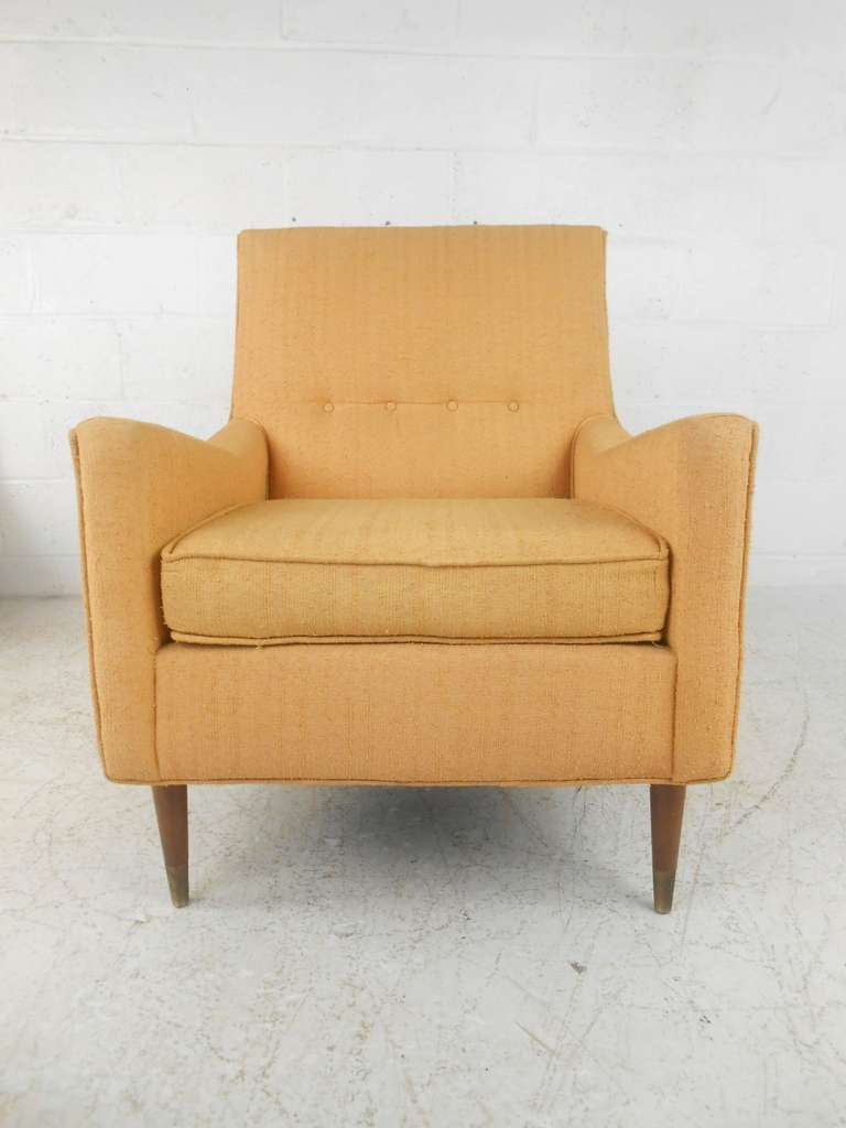 Pair of Mid-Century Modern Armchairs by Rowe at 1stdibs