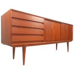 Mid-Century Modern Omann Junior Model 18 Danish Teak Sideboard