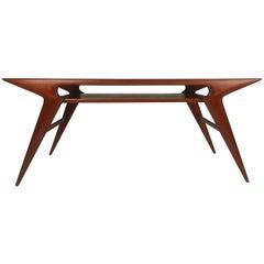 """Scandinavian Modern """"Smile"""" Table by Johannes Andersen"""