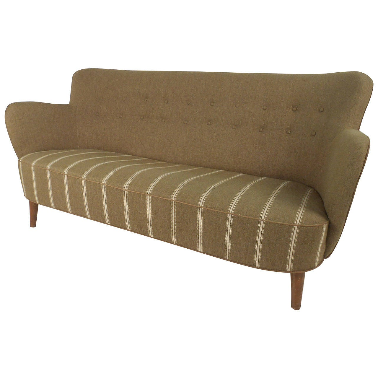 fritz hansen attributed sofa for sale at 1stdibs. Black Bedroom Furniture Sets. Home Design Ideas