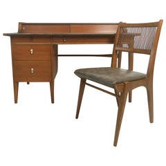 Mid-Century Modern Desk by John Van Koert for Drexel