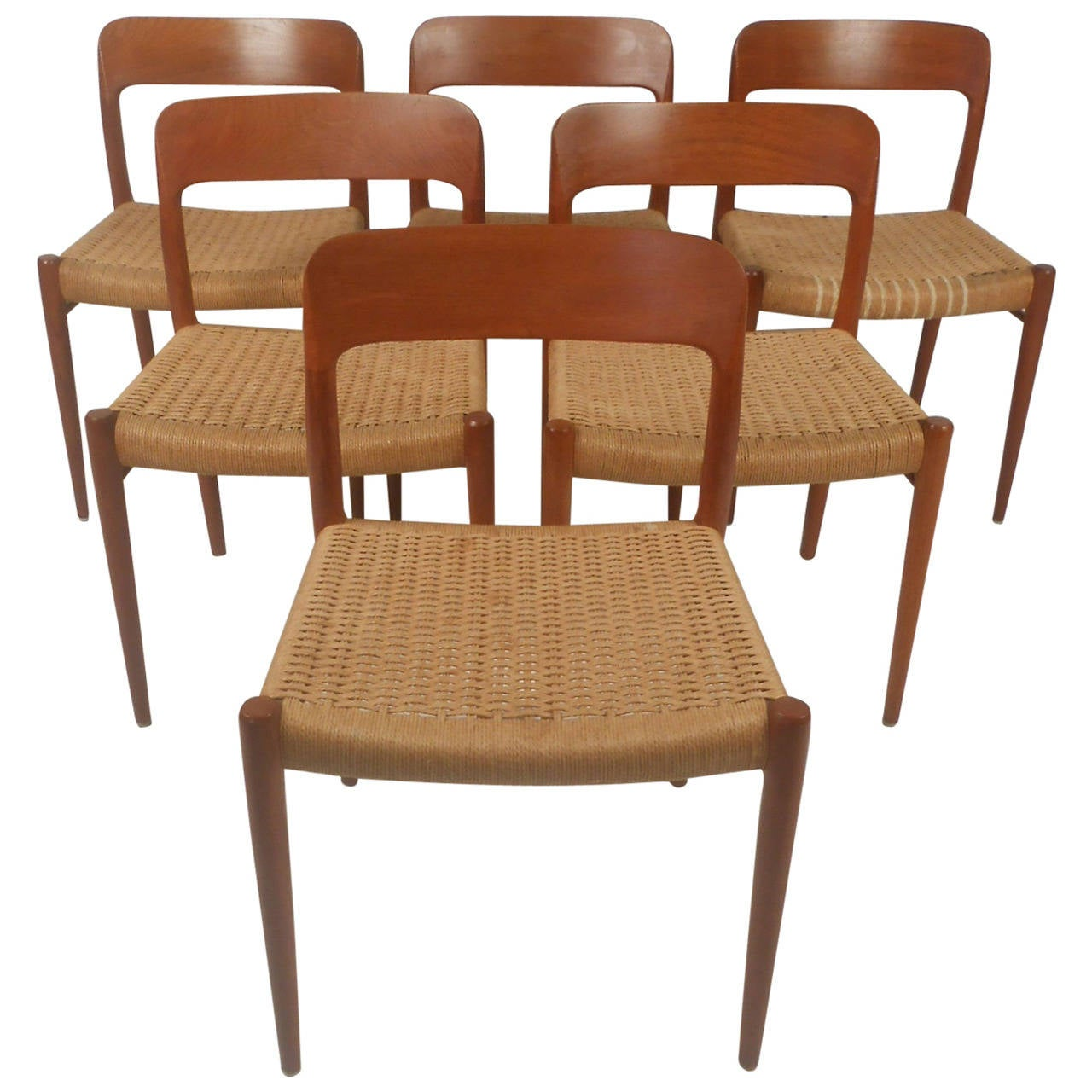 N. O. Moller Danish Dining Chairs 1