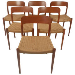 N. O. Moller Danish Dining Chairs