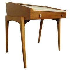 Petite Roll-Top Desk and Chair by John Van Koert for Drexel