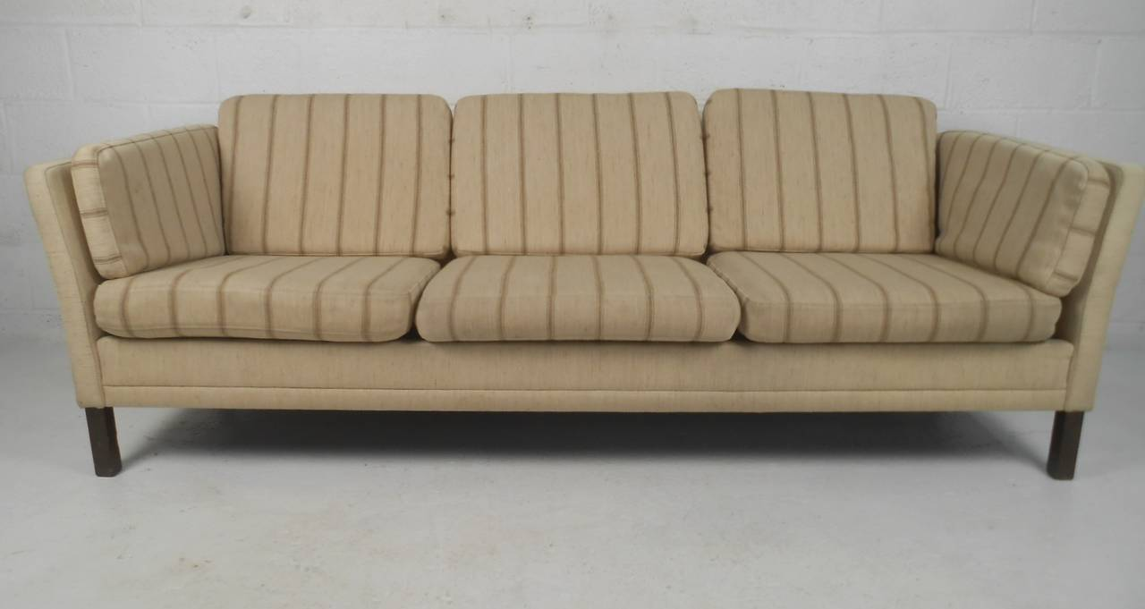 This Vintage Scandinavian Three Seat Sofa Makes The Perfect Addition To  Home Or Business Seating Area