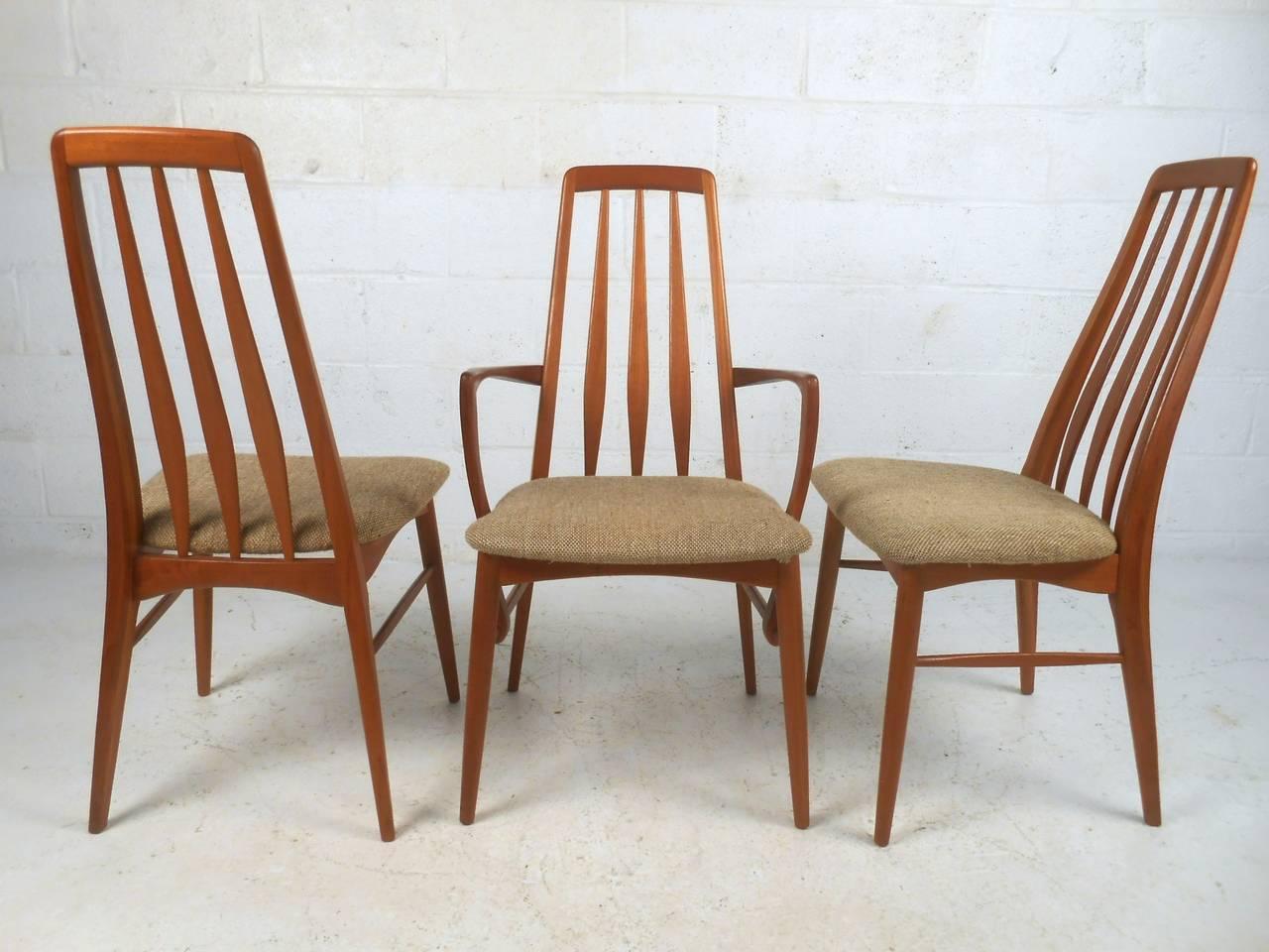 Mid Century Modern Danish Teak Eva Dining Chairs For