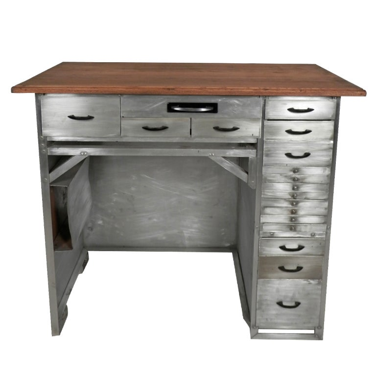 Gorgeous Industrial Metal Watchmaker S Desk At 1stdibs