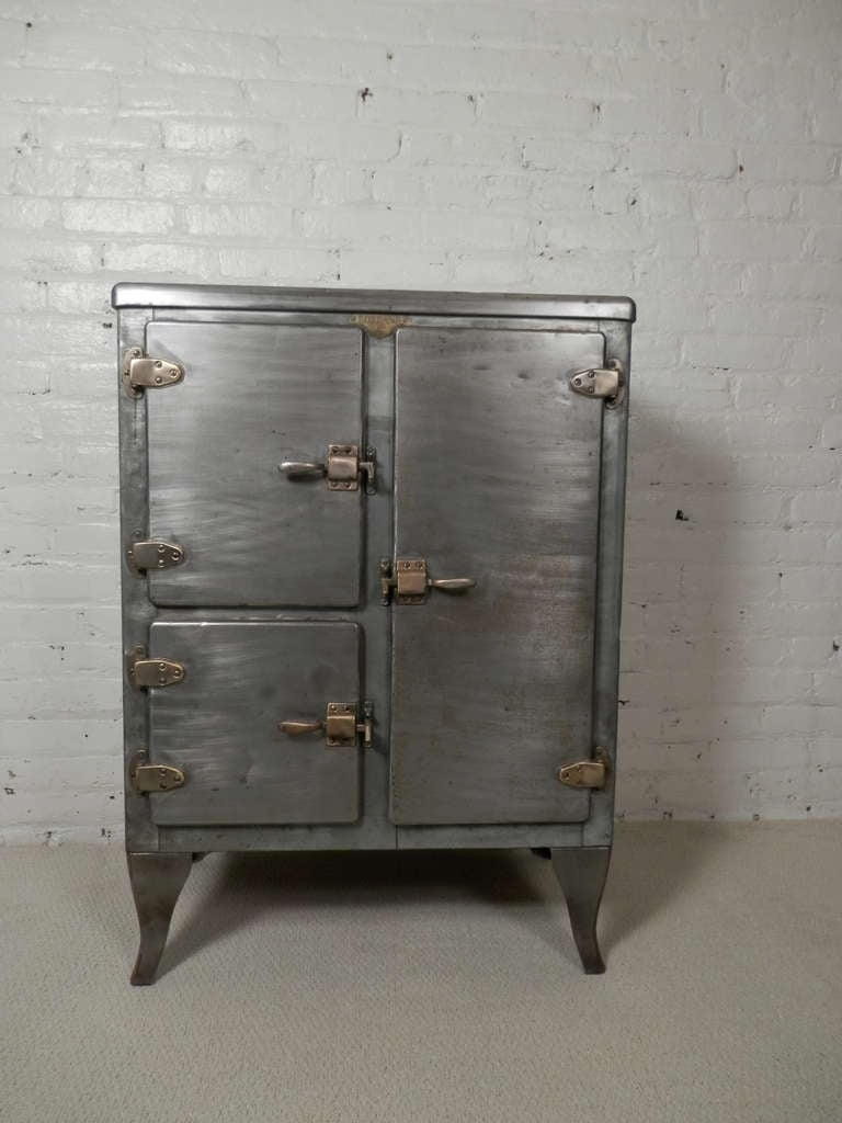 Rare Antique Metal Ice Box At 1stdibs