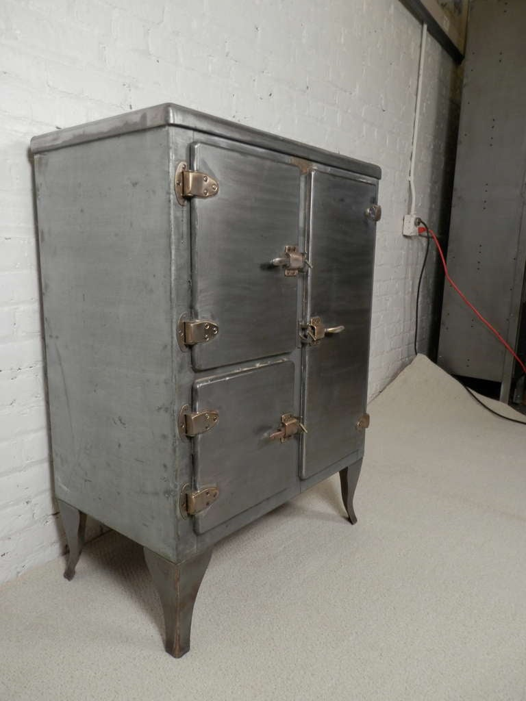 Rare Antique Metal Ice Box At 1stdibs