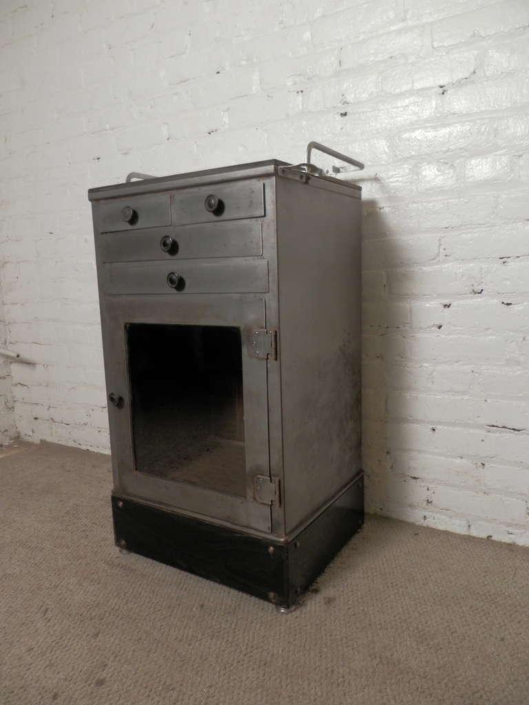 restored mid century medical cabinet at 1stdibs. Black Bedroom Furniture Sets. Home Design Ideas