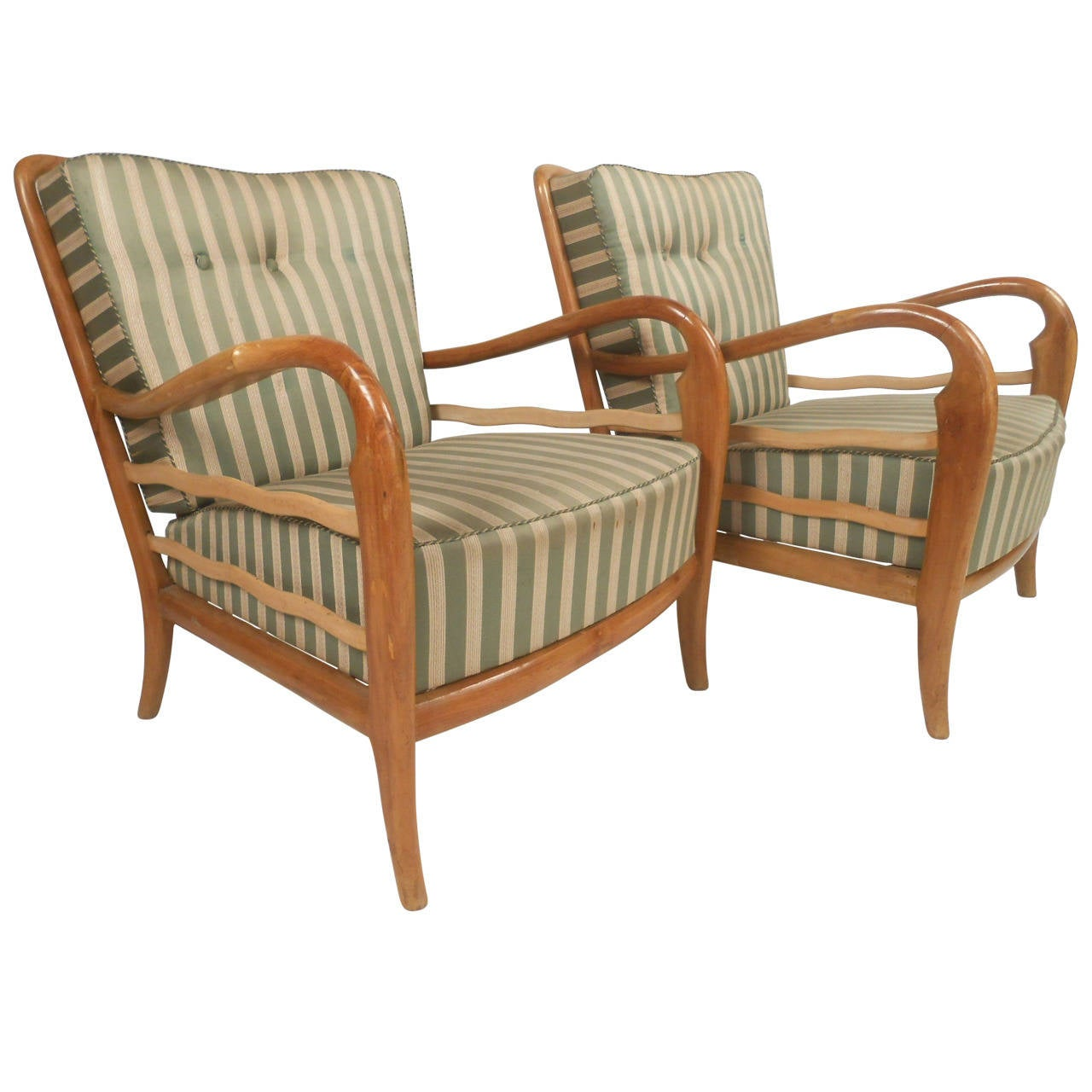 Modern Italian Cream Leather Lounge Chair, Modern Italian Design For ...