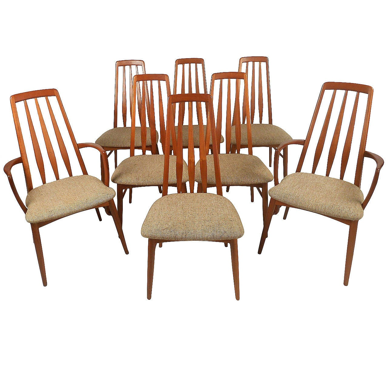 "Mid-Century Modern Danish Teak ""Eva"" Dining Chairs For"