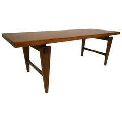 Mid-Century Modern Rosewood Coffee Table in the Style of Illum Wikkelsø