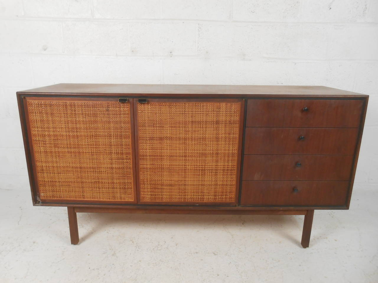 Superieur American Mid Century Modern Cane Front Credenza In The Style Of Jack  Cartwright For