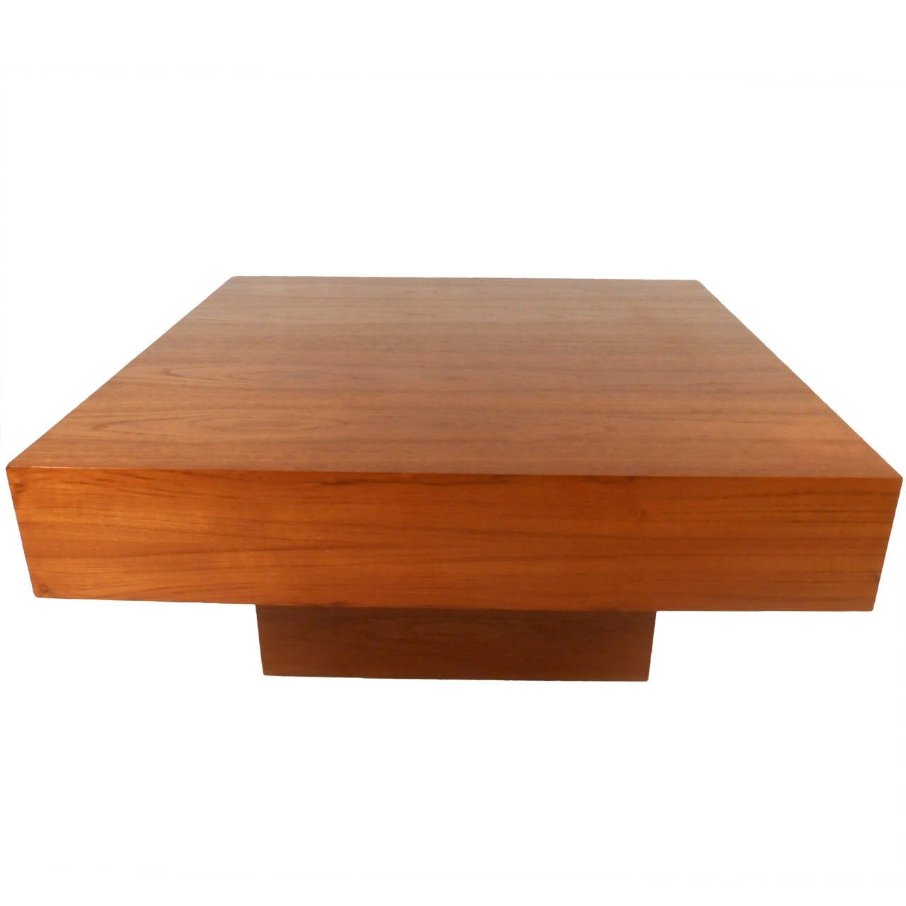 Mid century modern style teak center table for sale at 1stdibs for Center table coffee table