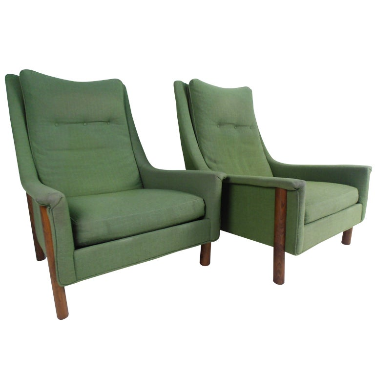 Selig Monroe Mid Century Lounge Chairs at 1stdibs