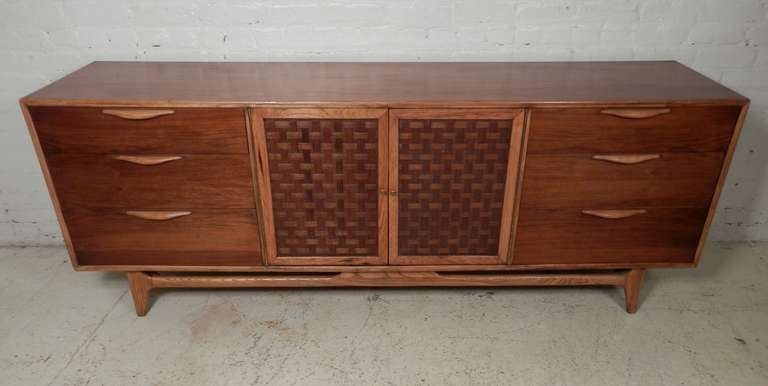Re Finished Mid Century Modern Lane Credenza By Warren Church For Sale At 1stdibs