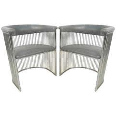Vintage Modern Warren Platner Style Side Chairs