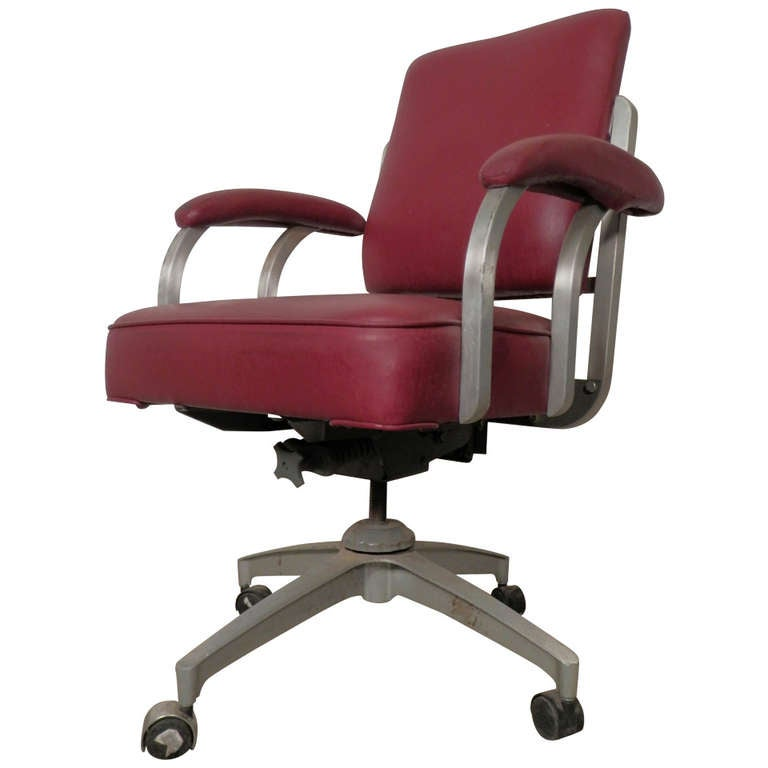 Rare Model Rolling Desk Chair by Emeco at 1stdibs