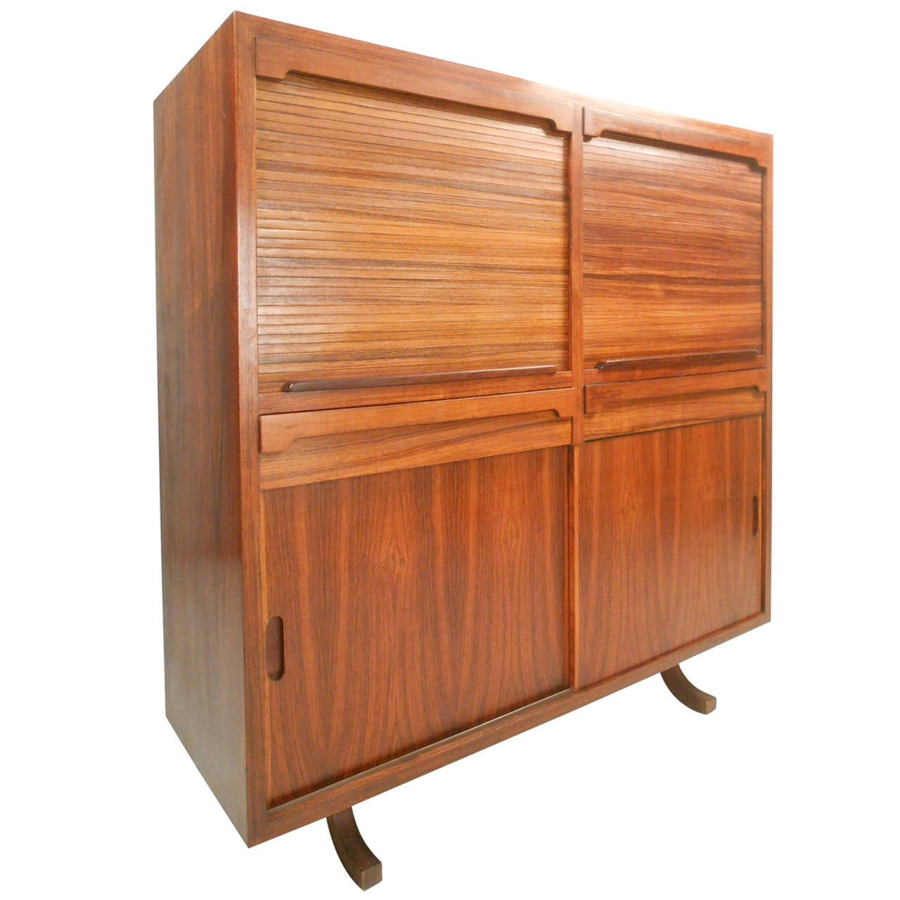 Gorgeous Mid Century Modern Rosewood Bar Cabinet At 1stdibs