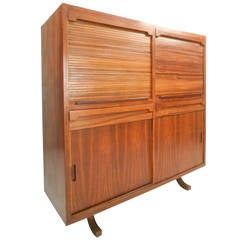 Gorgeous Mid-Century Modern Rosewood Bar Cabinet