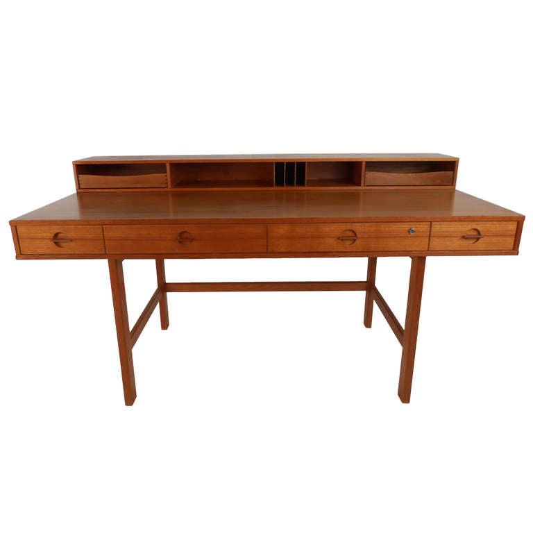 Jens Quistgaard Teak Desk For Lovig At 1stdibs