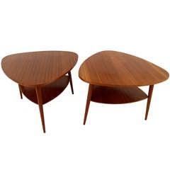 Pair of Scandinavian Modern End Tables