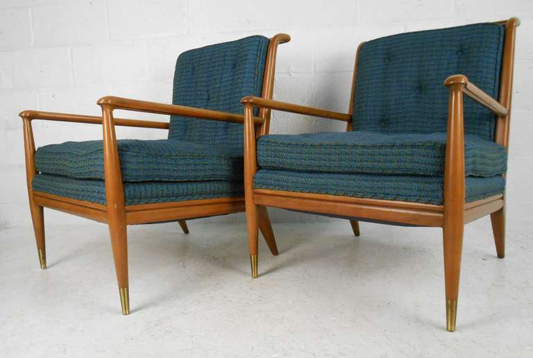 Superior Rare Walnut Lounge Chairs By J S Clingman For Widdicomb. Featuring Dowel  Rod Back, Turned