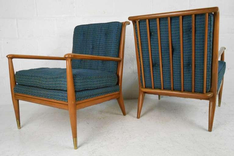 American John Stuart Clingman for Widdicomb Mid-Century Modern Lounge Chairs For Sale