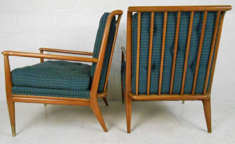 John Stuart Clingman for Widdicomb Mid-Century Modern Lounge Chairs In Good Condition For Sale In Brooklyn, NY