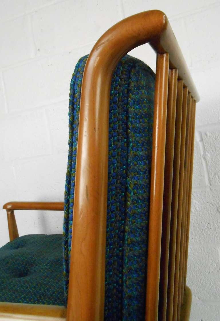 Brass John Stuart Clingman for Widdicomb Mid-Century Modern Lounge Chairs For Sale