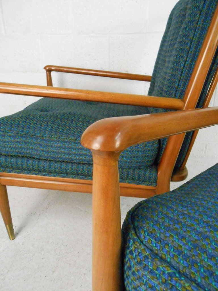 Mid-20th Century John Stuart Clingman for Widdicomb Mid-Century Modern Lounge Chairs For Sale