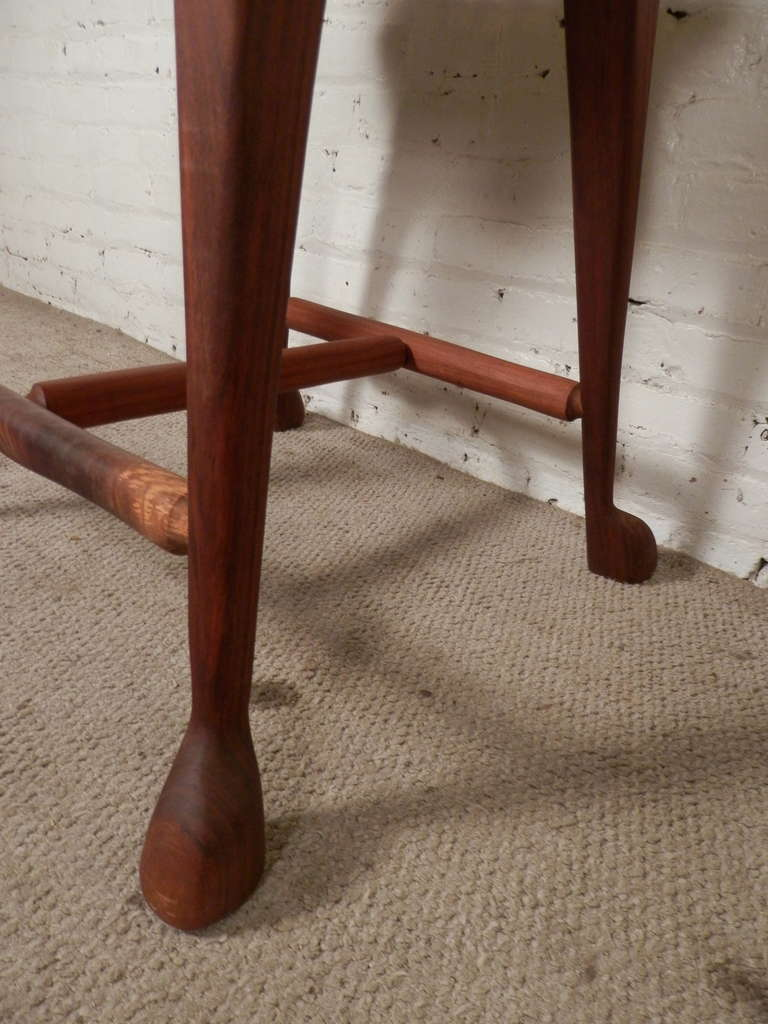 American Craftsman Style Signed Oversized Handmade Stool