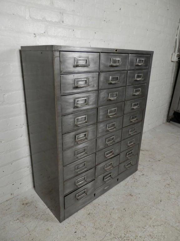 metal file cabinet dividers twenty seven drawer industrial used cabinets for sale vintage filing 2