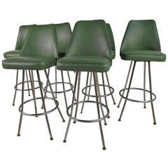 Vintage Swivel Stools by Admiral Chrome Corporation