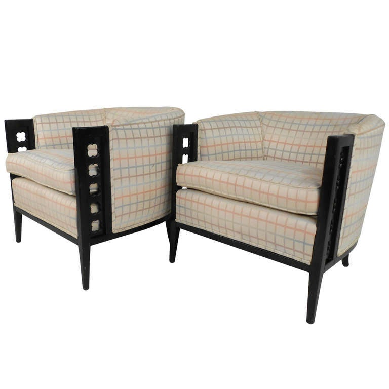 Pair of Vintage Club Chairs For Sale