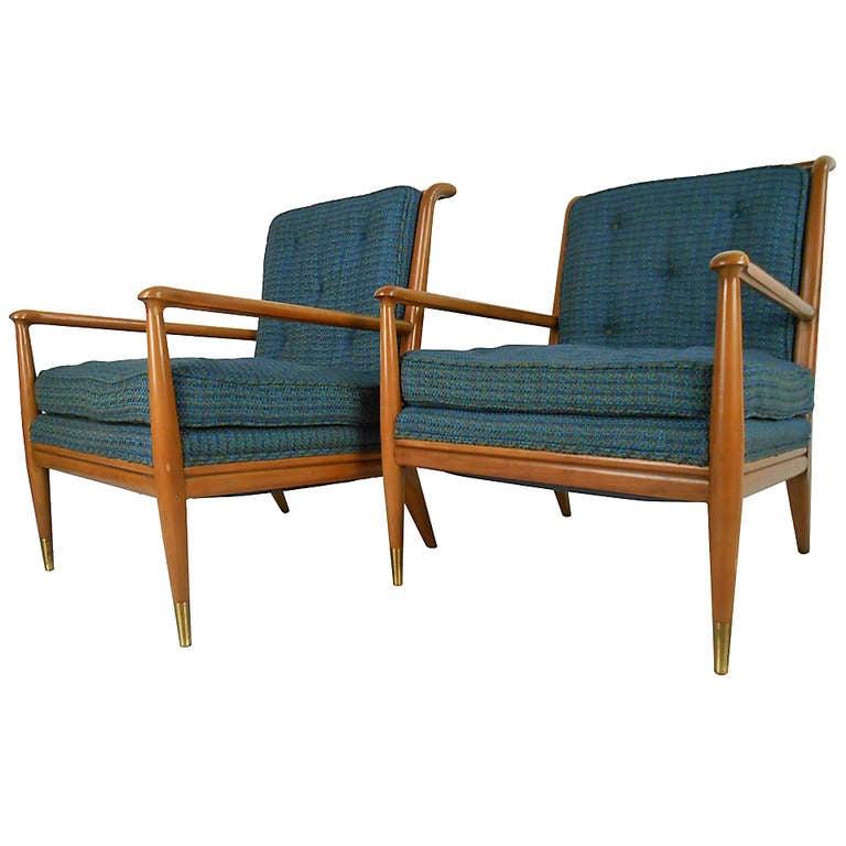 John Stuart Clingman for Widdicomb Mid-Century Modern Lounge Chairs For Sale