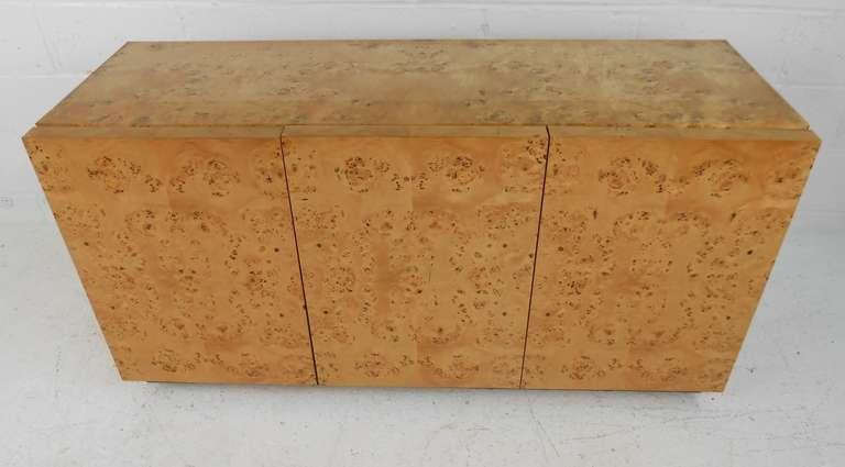 burl wood credenza 3
